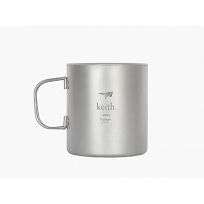 KEITH KS816 TI DOUBLE WALL MUG 600ML